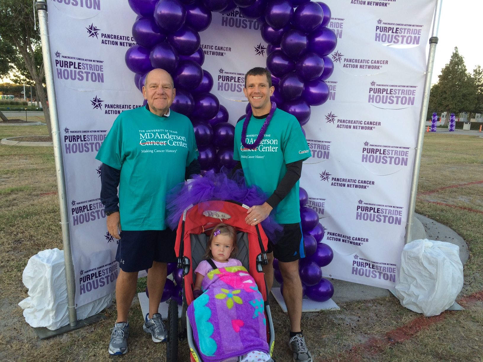 Cancerwise blog post: endoscopic mucosal resection surgery survivor Brian Folloder with his son and granddaughter
