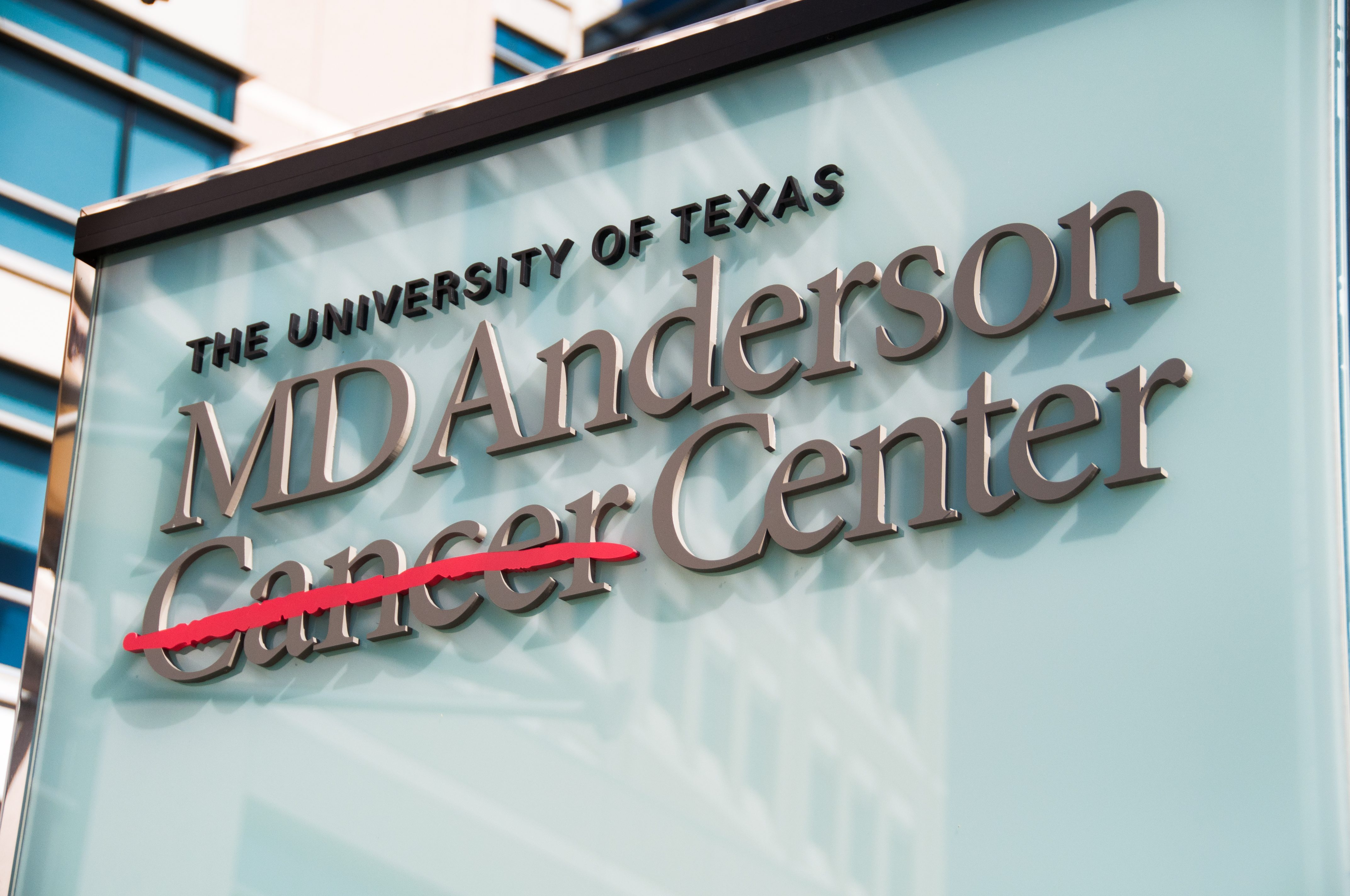 MD Anderson sign