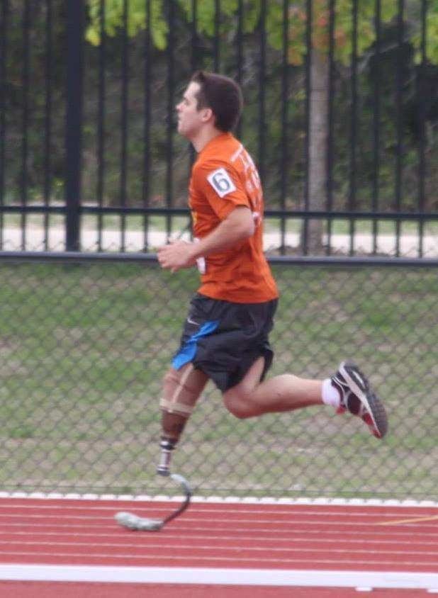 Childhood osteosarcoma survivor Anthony Quinn is now training for the U.S. Paralympics.
