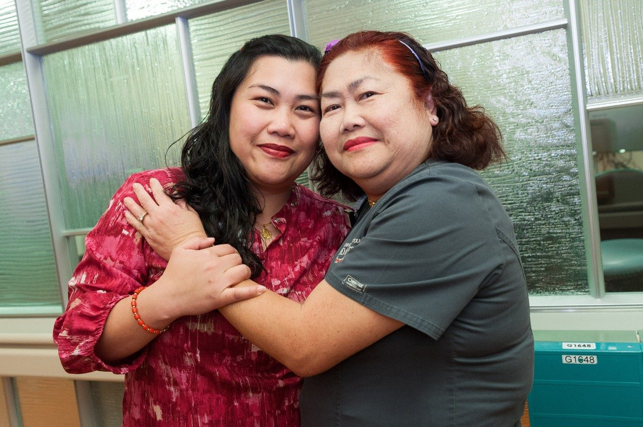 Cancerwise blog post: Nursing assistant Elsa So with daughter Marivic So