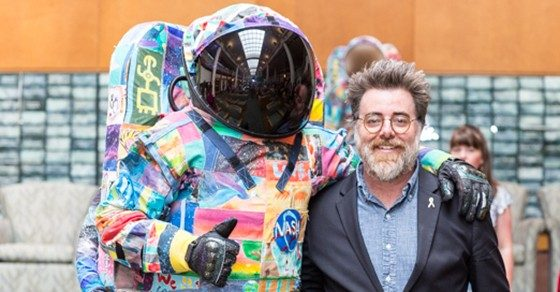 Cancerwise blog post: Ian Cion with the HOPE replica spacesuit