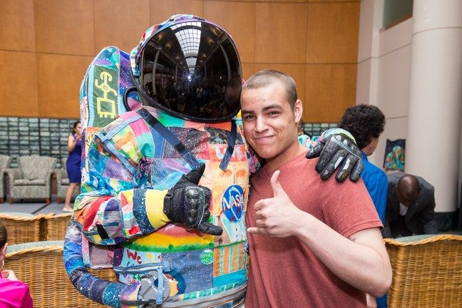Cancerwise blog post: David Olazaba with the HOPE spacesuit