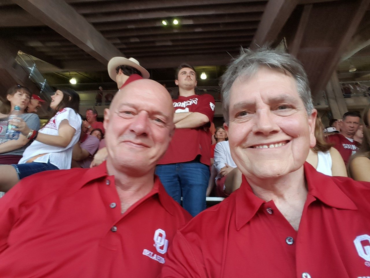 Acinic cell carcinoma survivor Keith Taggart (right) with his partner, Greg Stipp