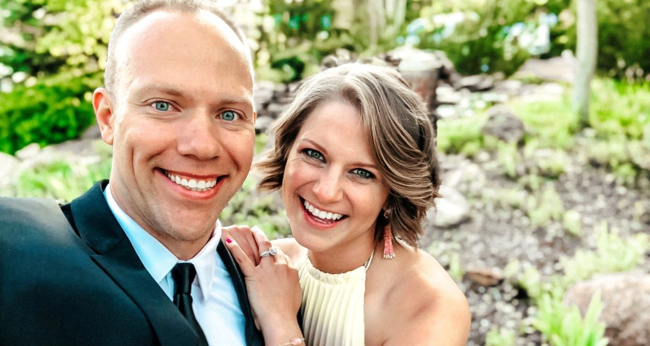 Sarcoma survivor Nicole Body with her husband, Wes Body