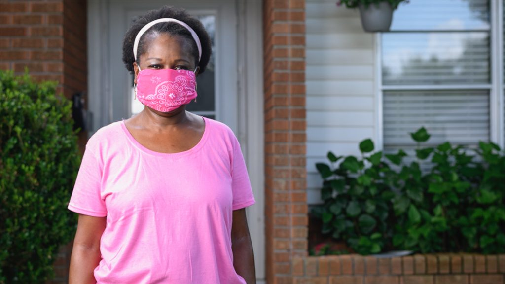 Breast cancer survivor and proton therapy patient Charlene Upshaw