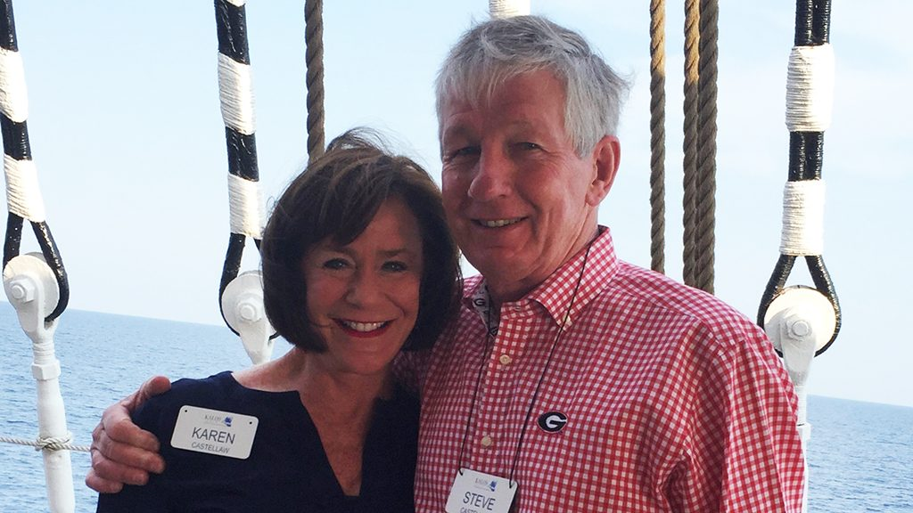 Lung cancer survivor Steve Castellaw and his wife, Karen