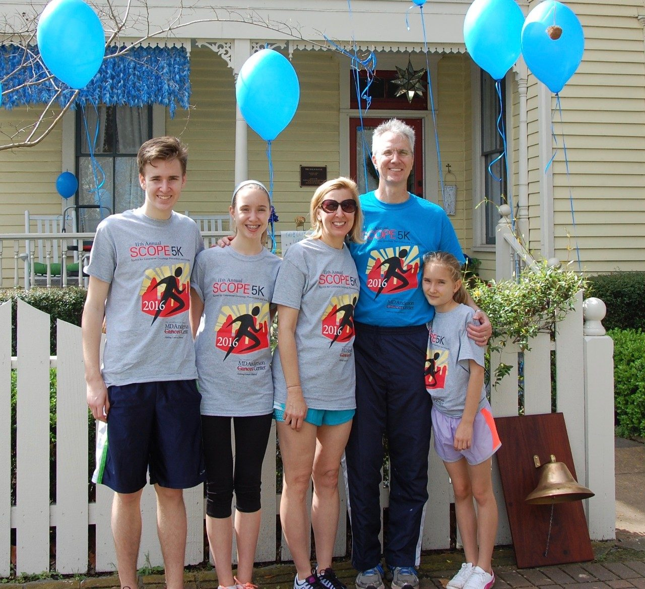 Doug Shoemaker, colon cancer survivor, with his family