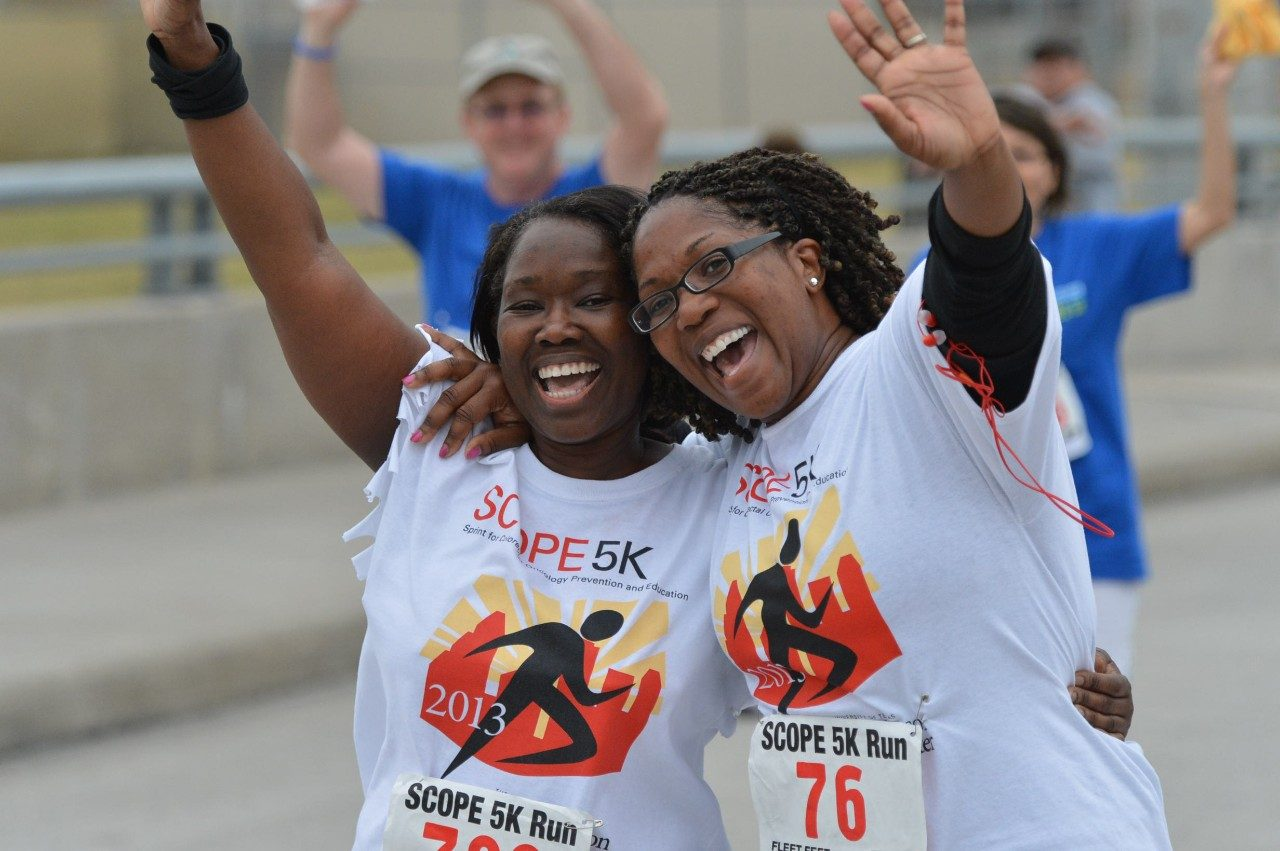 Two women participating in the SCOPE Run
