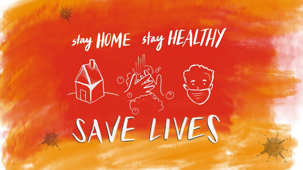 Graphic: Stay home, stay healthy, save lives