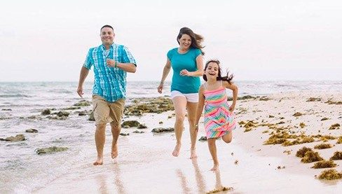 Constance Blanchard, 10-year glioblastoma survivor, with her family