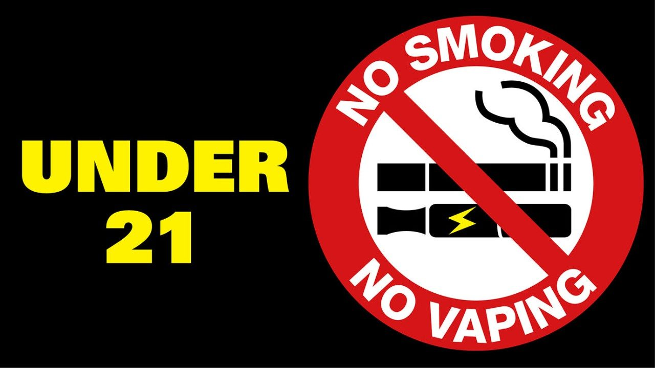 Under 21 No Smoking No Vaping graphic