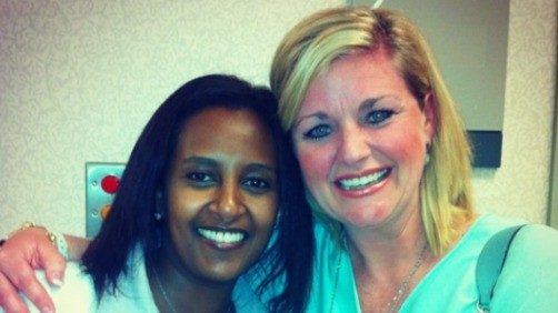 Amy Countiss with Welela Tereffe, M.D.