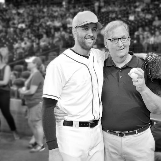 Collin McHugh, and his father, a prostate cancer survivor