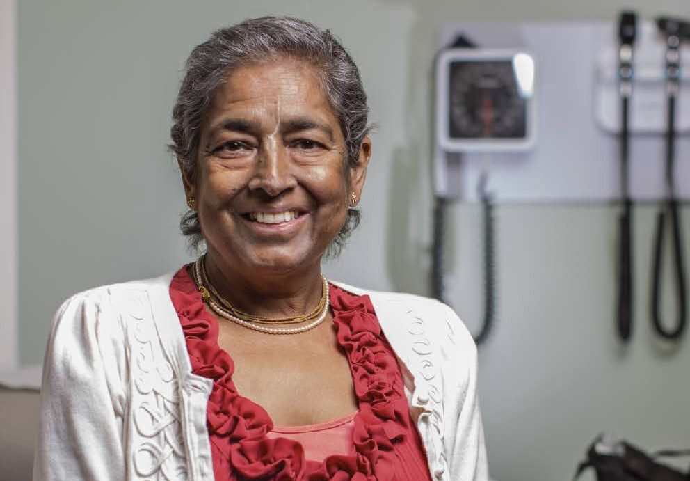 Acute Myeloid leukemia patient Bindu Chakravarty received a stem cell transplant at MD Anderson