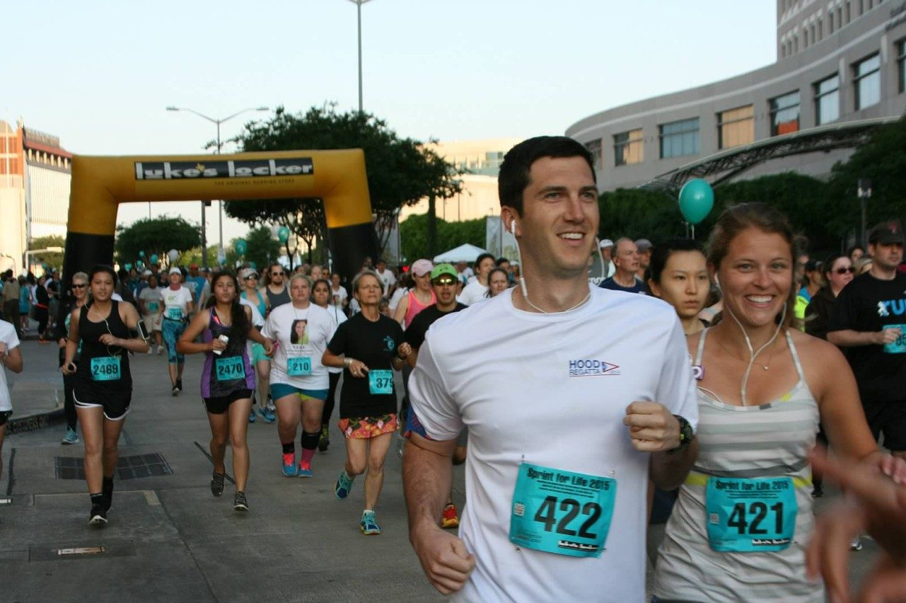 Sprint for Life runners support ovarian cancer research
