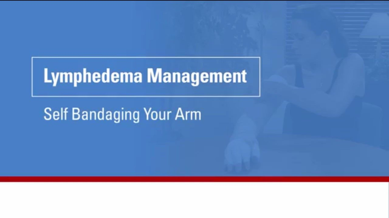 This video will show you how to wrap your arm as part of your lymphedema management.