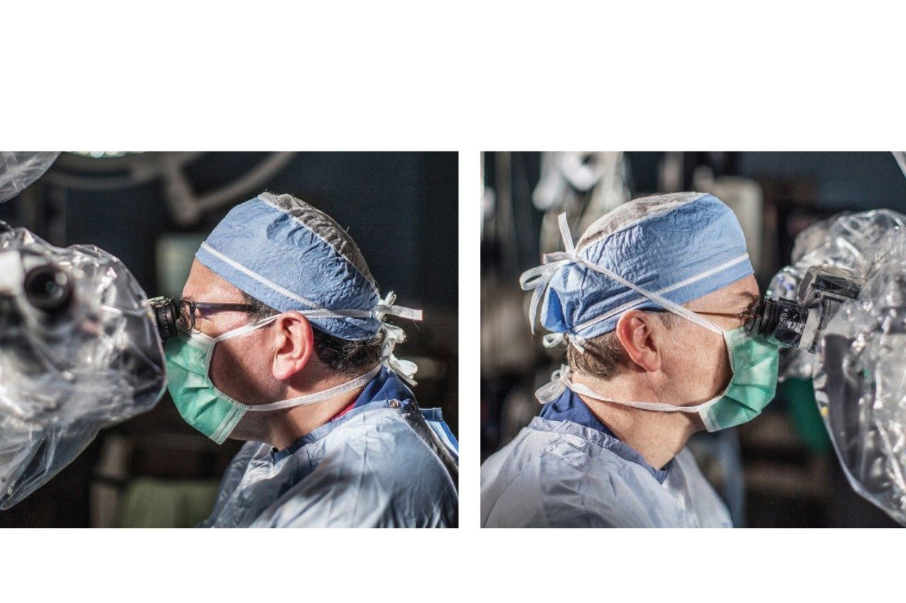 Franco DeMonte, M.D., left, and Paul Gidley, M.D., are members of the Skull Base Tumor Program's multidisciplinary team