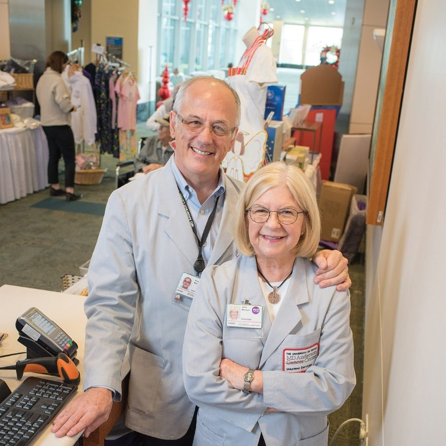 Roland and Jane Moreau, inpatient volunteers