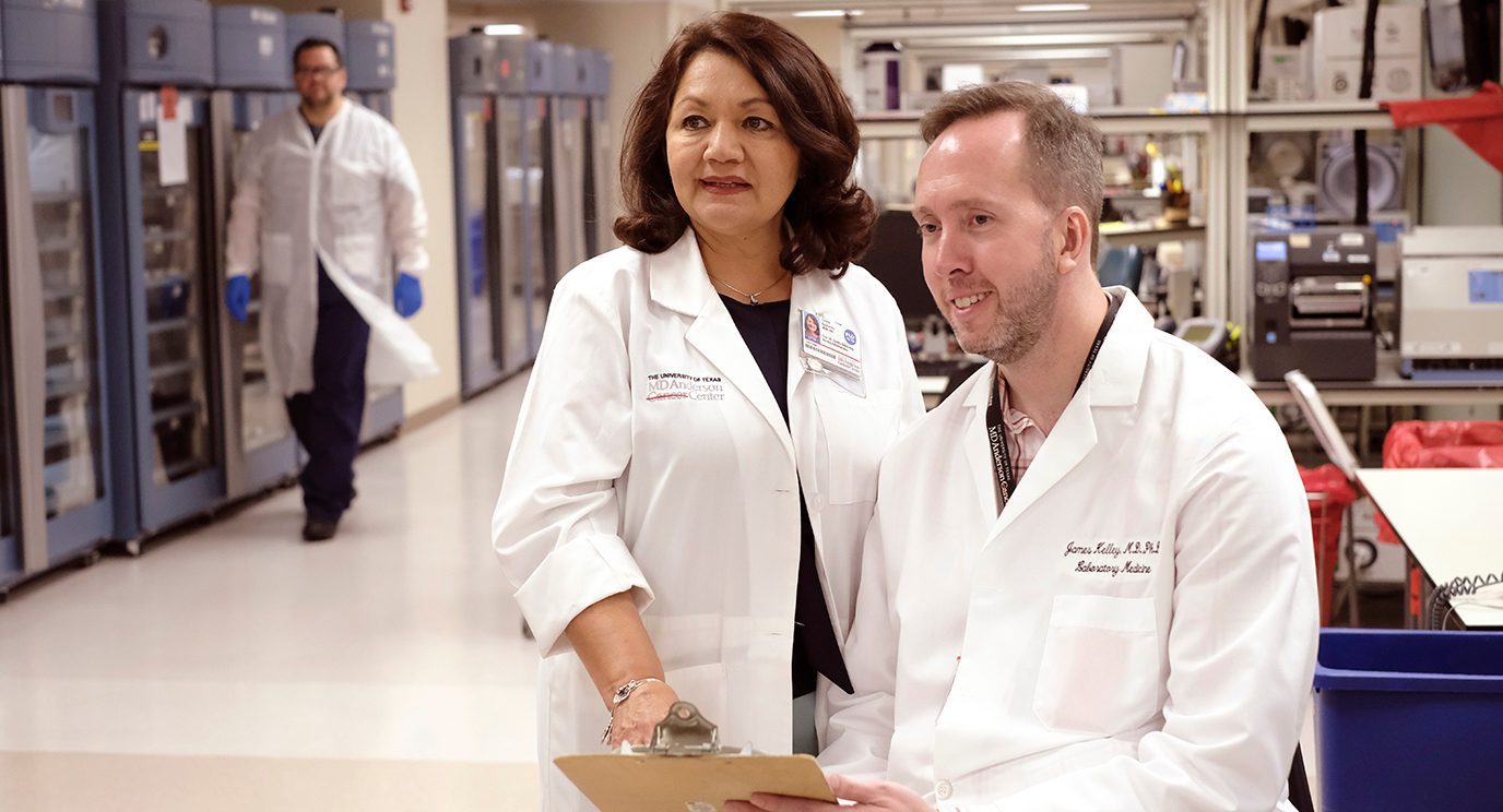 James Kelley, M.D., Ph.D., assistant professor of Laboratory Medicine, and Dee Gallardo, executive director for Nursing, co-lead the Hemovigilance Unit.