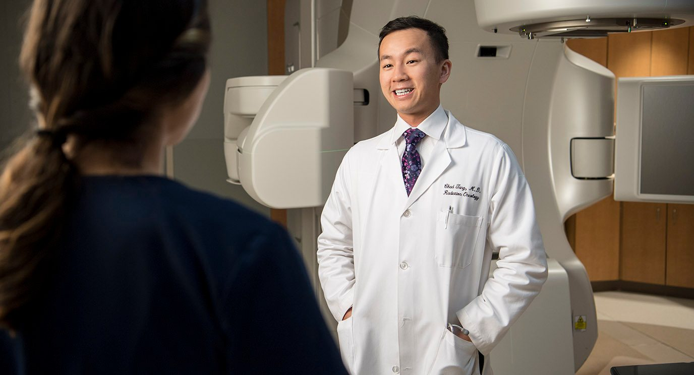 Chad Tang, M.D., led a study that found prostate cancer patients treated at multidisciplinary clinics were more likely to receive treatment choices and care supported by evidence-based guidelines.