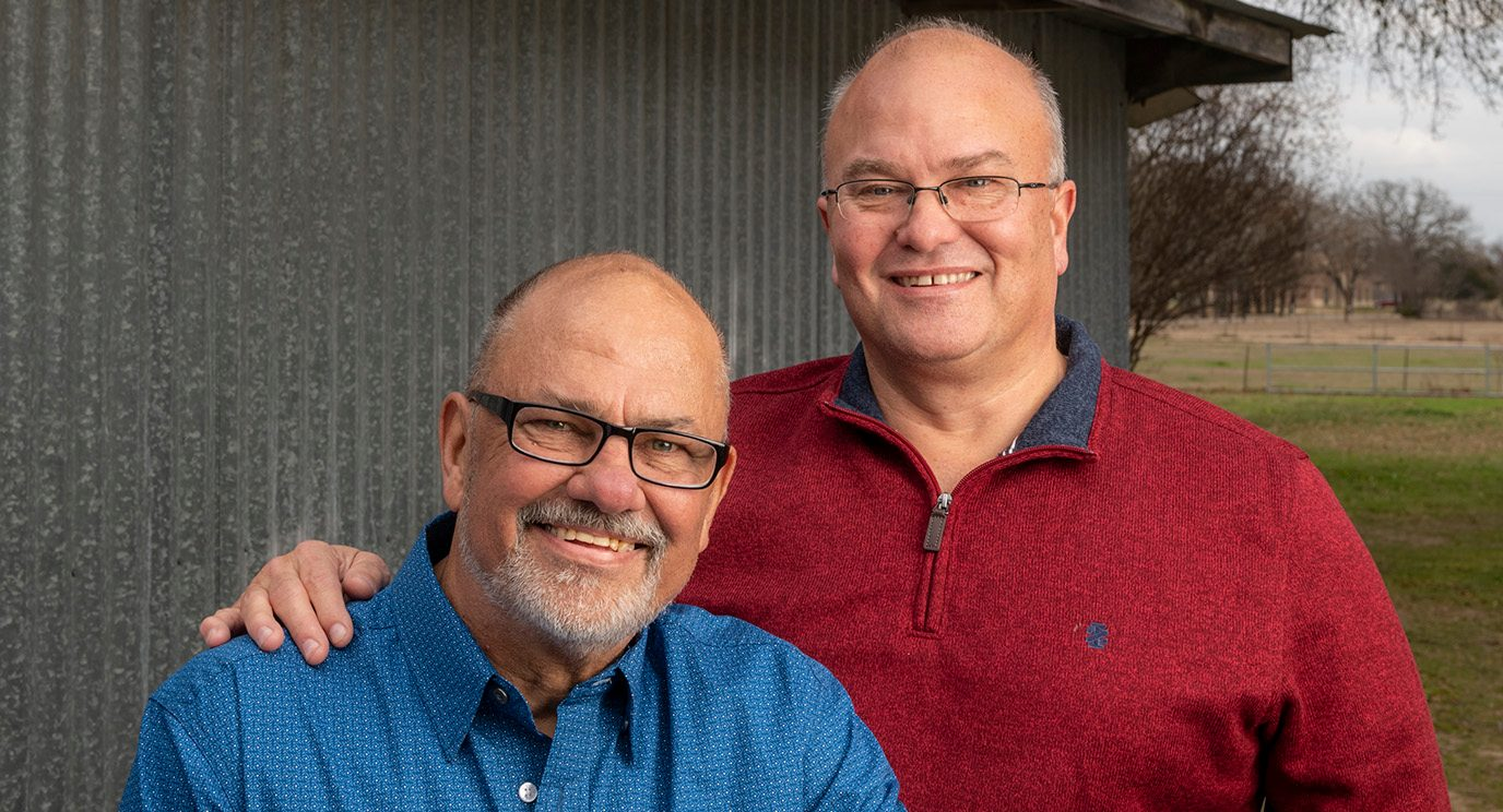 During his lymphoma treatment, JC Cox received a stem cell donation from his brother Gary.