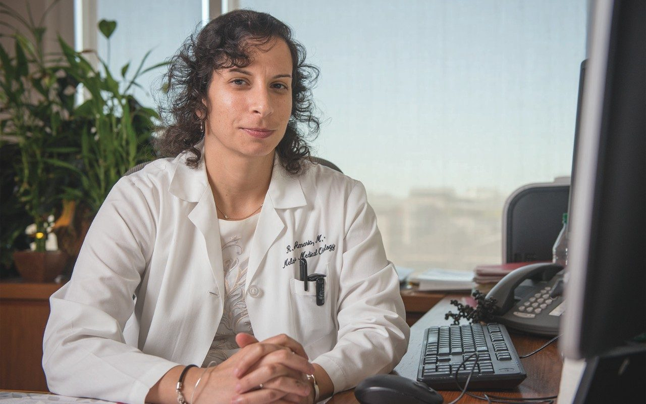 Rodabe Amaria, M.D., assistant professor of Melanoma Medical Onoclogy