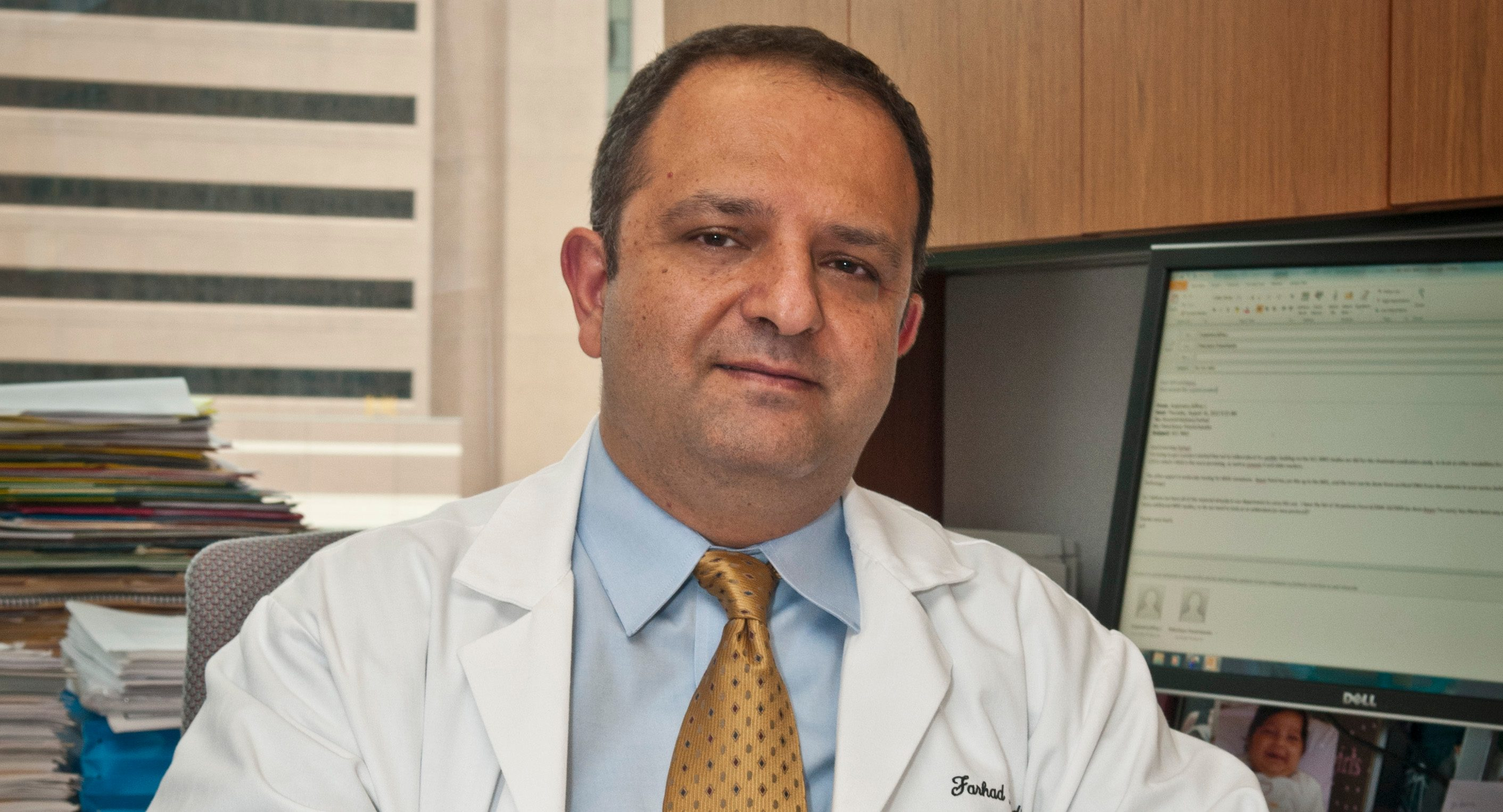 Farhad Ravandi, M.D., led the clinical trial that paired the immune checkpoint inhibitor nivolumab with a chemotherapy combination for acute myeloid leukemia.