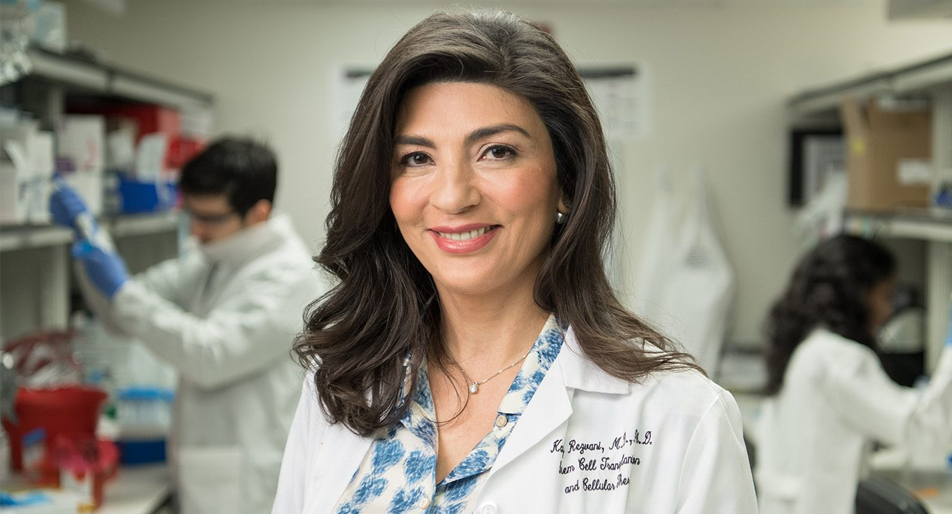 Katy Rezvani, M.D., Ph.D., equips innate immune system natural killer cells with a chimeric antigen receptor that targets B cell malignancies, an approach that's yielded results in early clinical trials. Her lab is developing CAR NK cells against other cancers.