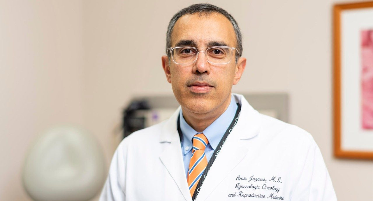 Amir Jazaeri, M.D., says immunotherapy clinical trials target ovarian cancer patients whose disease has become resistant to chemotherapy.