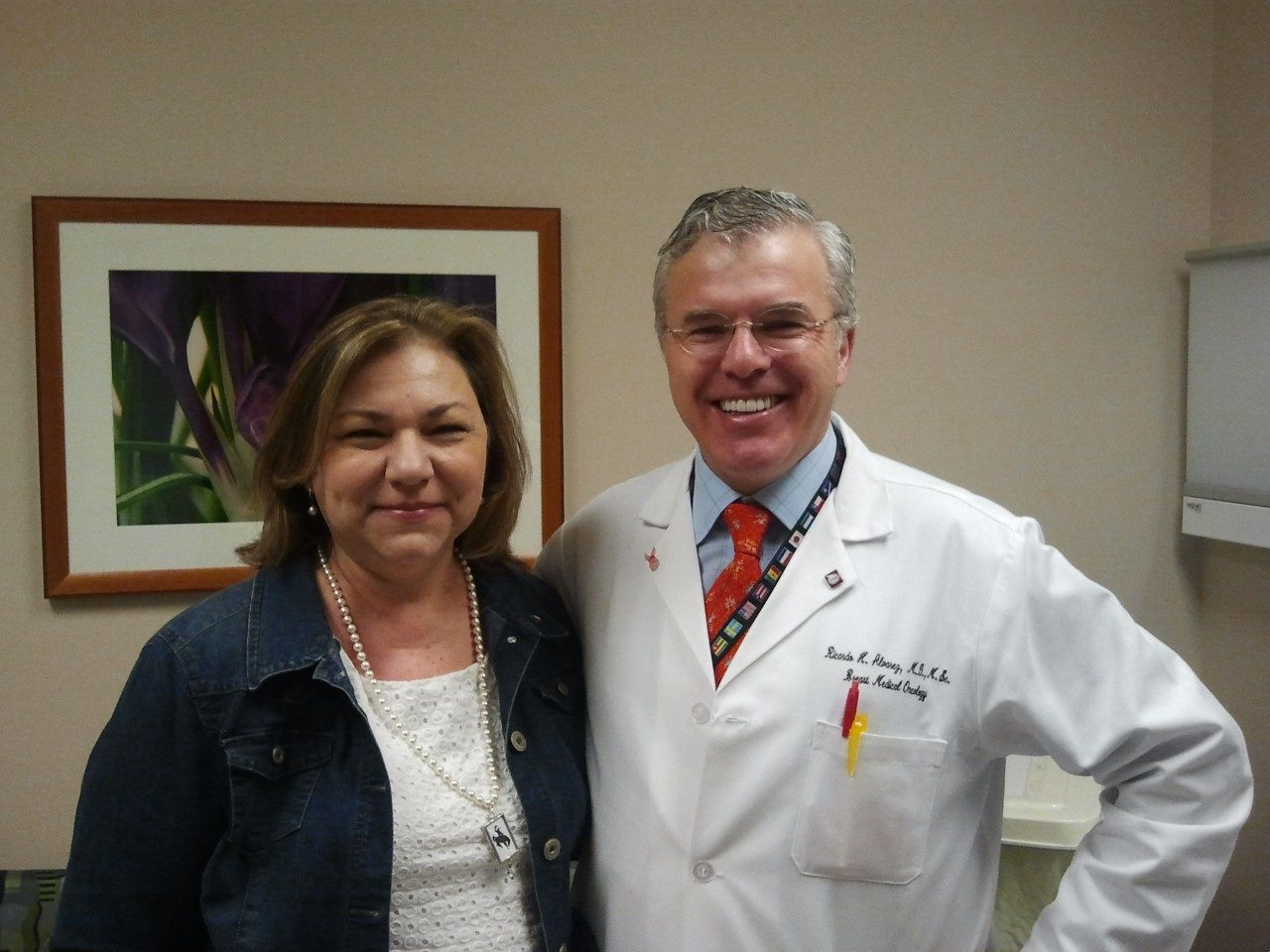 Terry Arnold with her physician