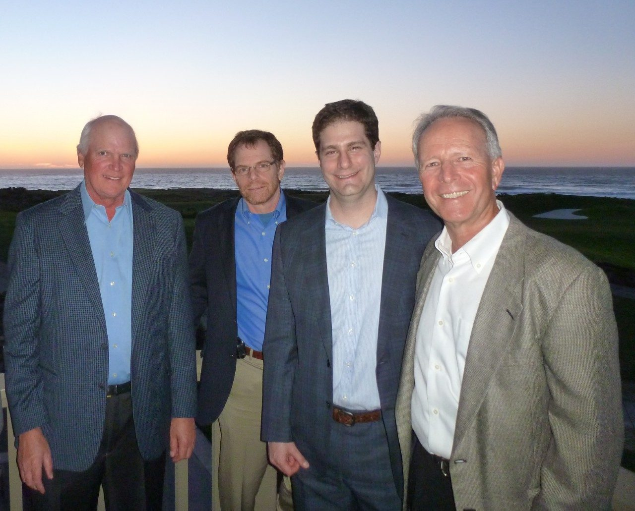 Mike Givens, Mark Gilbert, M.D., Nicholas Levine, M.D., and Laird Small, Pebble Beach Golf Academy director