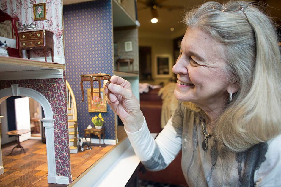 Radiation oncologist Patricia Eifel escapes relaxes by building miniature dollhouses.