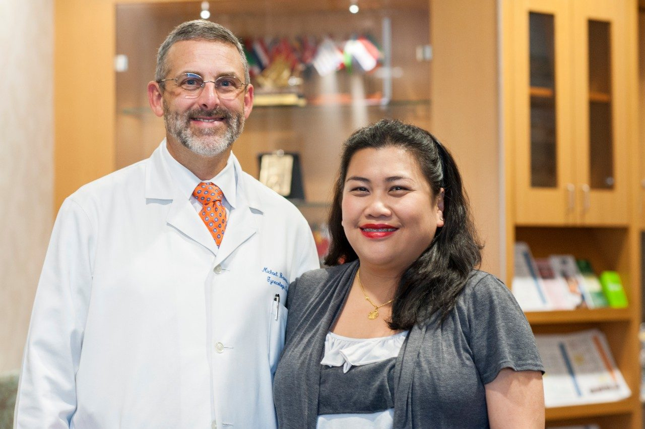 Cancerwise blog photo: Marivic So with Michael Bevers, M.D.