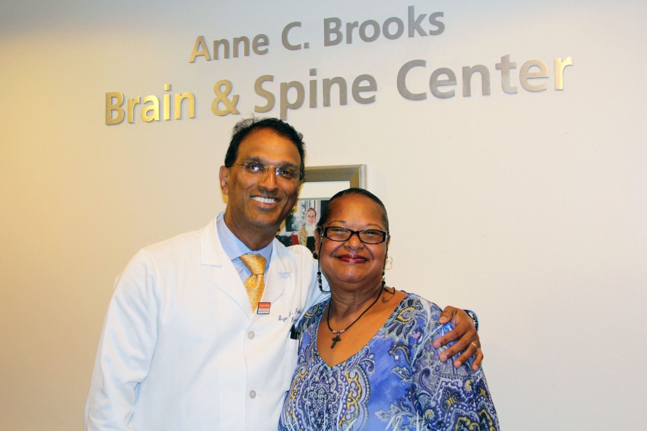 Cancerwise blog photo: Luvenia Berry (right) with Sujit Prabhu, M.D.