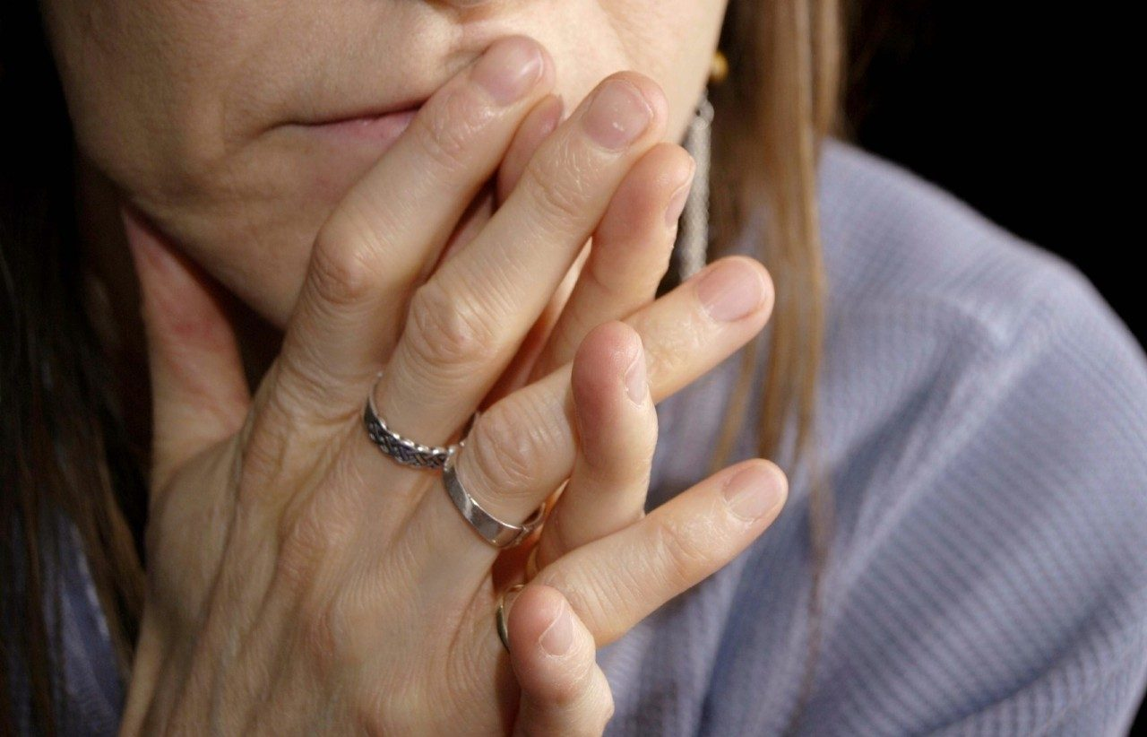 Cancerwise blog post: woman with clasped hands