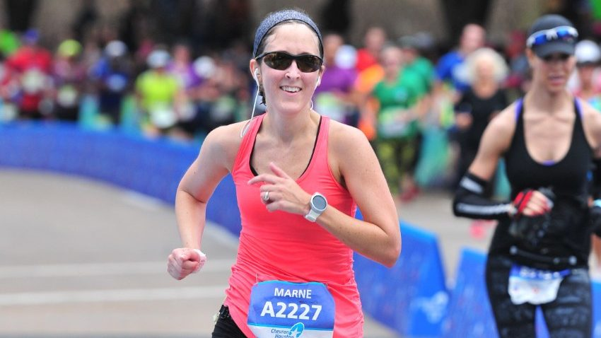 Cancerwise blog post: Marathon runner and stomach cancer survivor Marne Shafer credits her quick recovery from a total gastrectomy to her history of running.