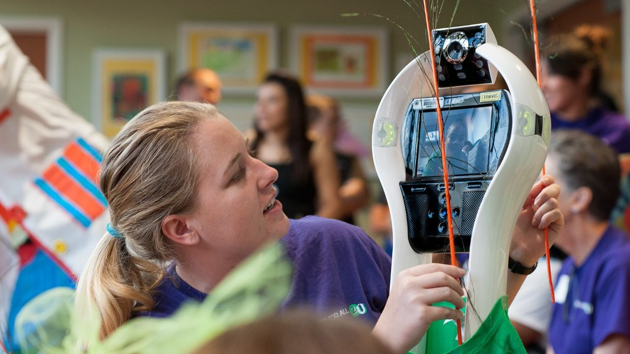 Cancerwise blog post: VGo robot allows pediatric cancer patients to experience fun during cancer treatment.