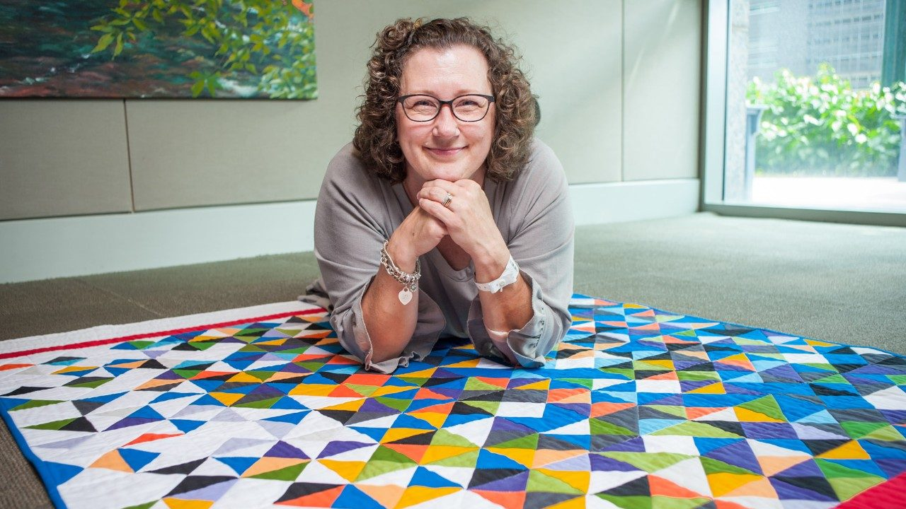Cancerwise blog post: Breast cancer survivor Michelle Hines shares how quilting helped her through cancer and discusses a special quilt she made.
