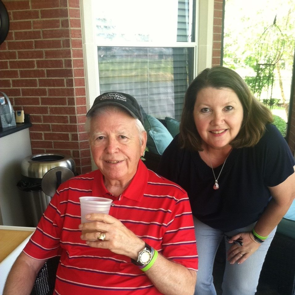Cancerwise blog post: Caregiver Lisa Nicks and her father, Roger Kesseler, a b-cell lymphoma survivor who received treatment at MD Anderson
