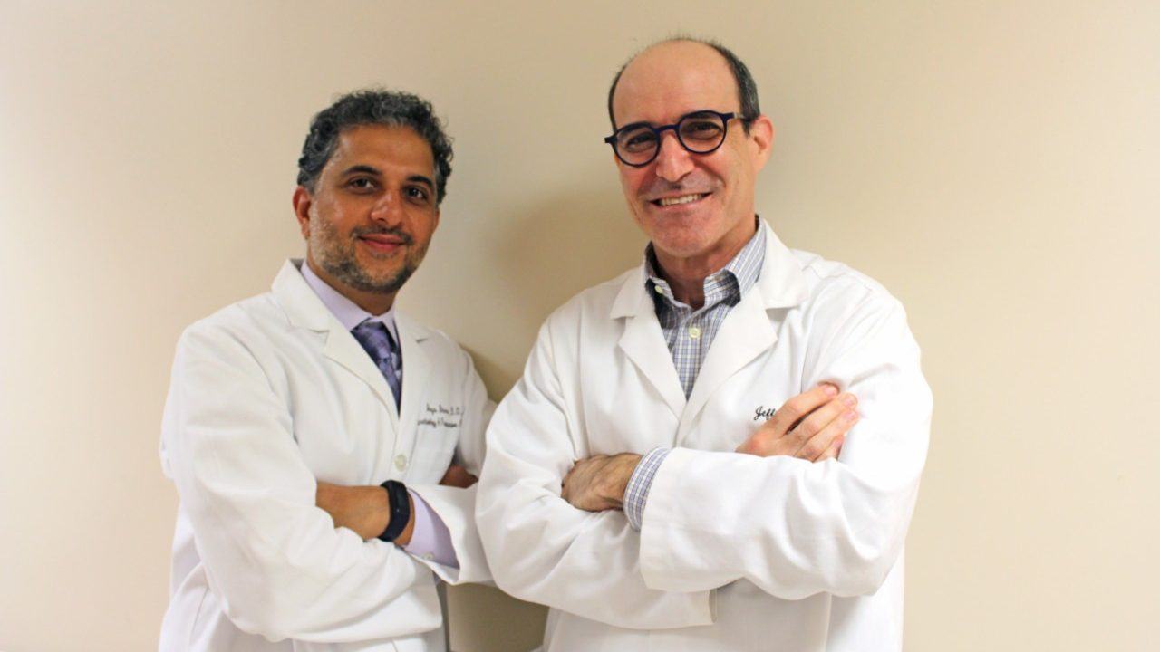 Awake craniotomy specialists neuroanesthesiologist Shreyas Bhavsar, D.O., and neurosurgeon Jeffrey Weinberg
