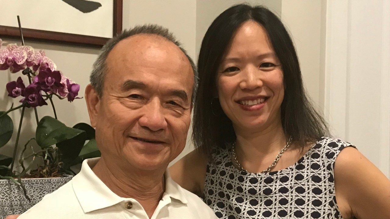 Cathy Eng, M.D., poses with her father.