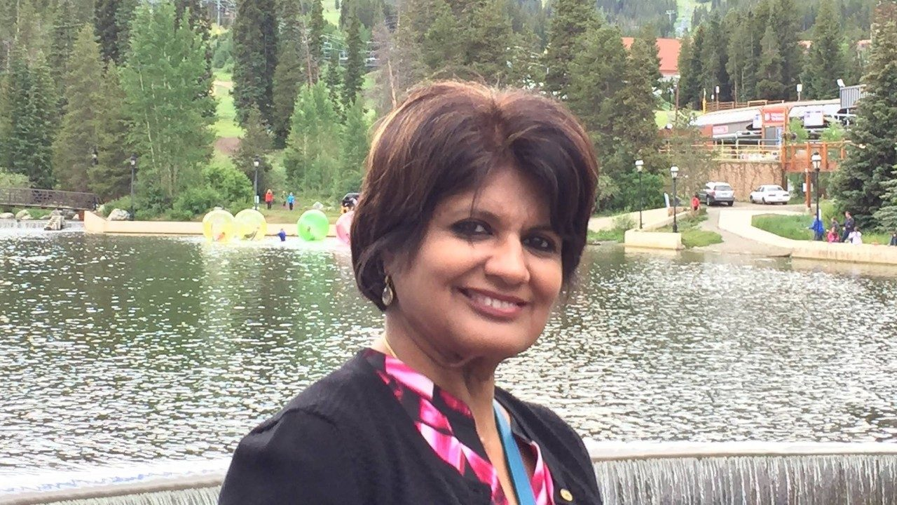 Oral cancer survivor Asha Bhandari