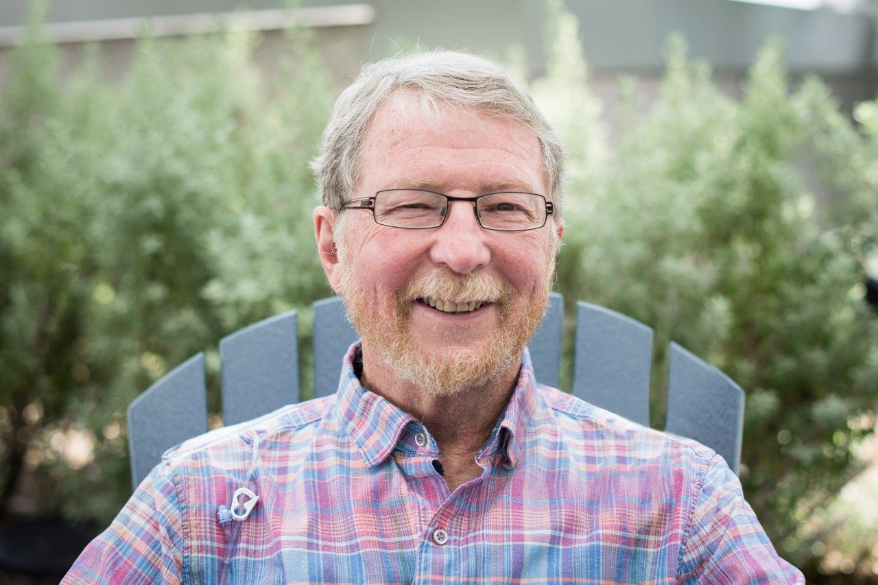 Bladder cancer survivor and immunotherapy clinical trial participant David Wight