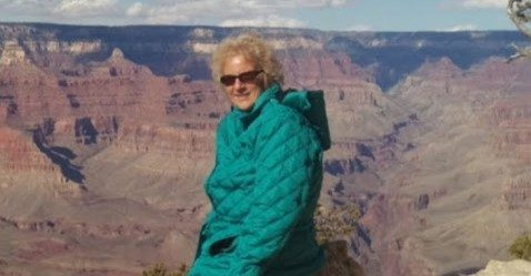 Breast cancer survivor and clinical trials advocate Mary Kay Dauria in the Grand Canyon