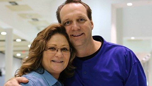 Primary peritoneal cancer survivor Kathy Brown with her husband Andy Brown