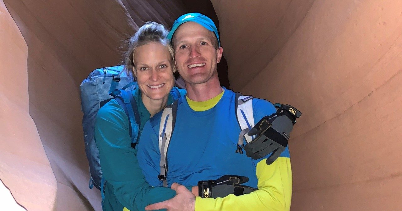 Breast cancer survivor and triathlete Lisa Tecklenburg, with her husband, Eric Edelman