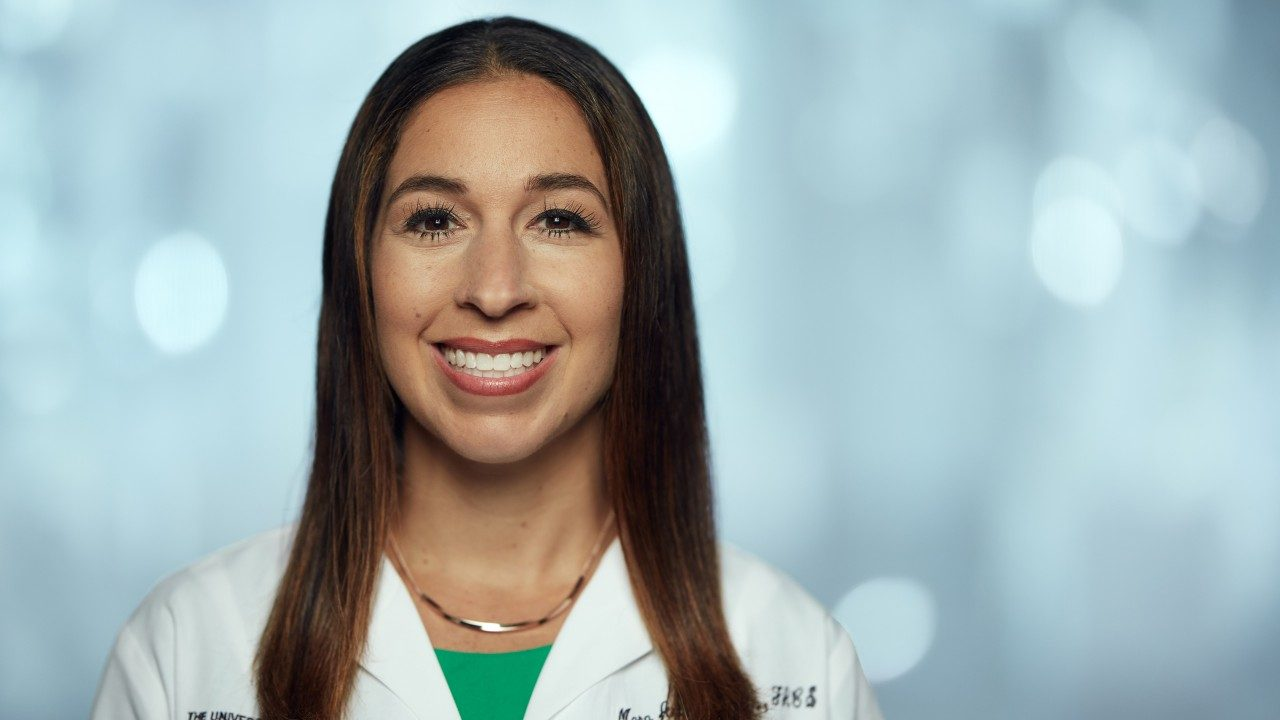 Cardiothoracic surgeon and lung cancer specialist Mara Antonoff, M.D.