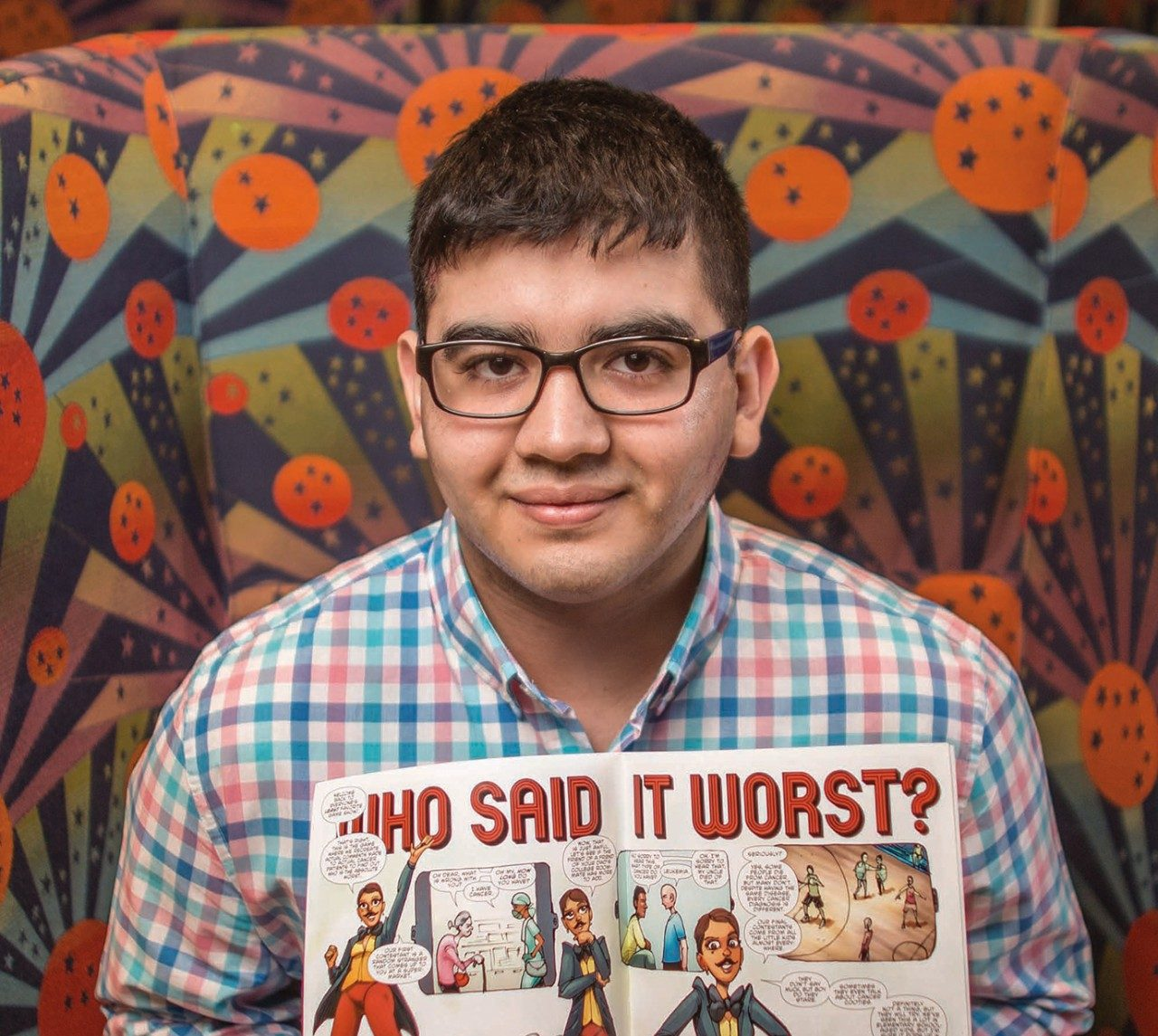 Mario Quezada helps create a comic book series about being a teen with cancer