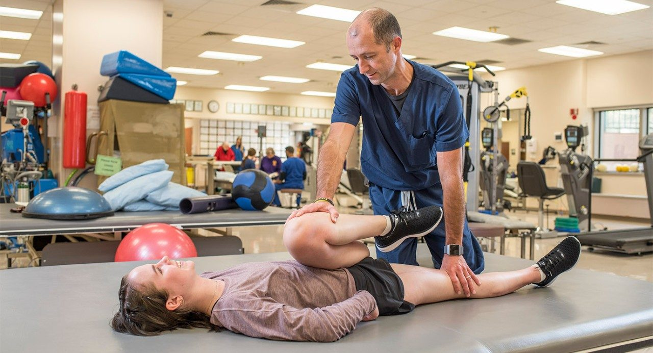Claire Spedale is getting stronger with help from physical therapist Alexander Penny after undergoing surgery and chemotherapy for bone cancer.