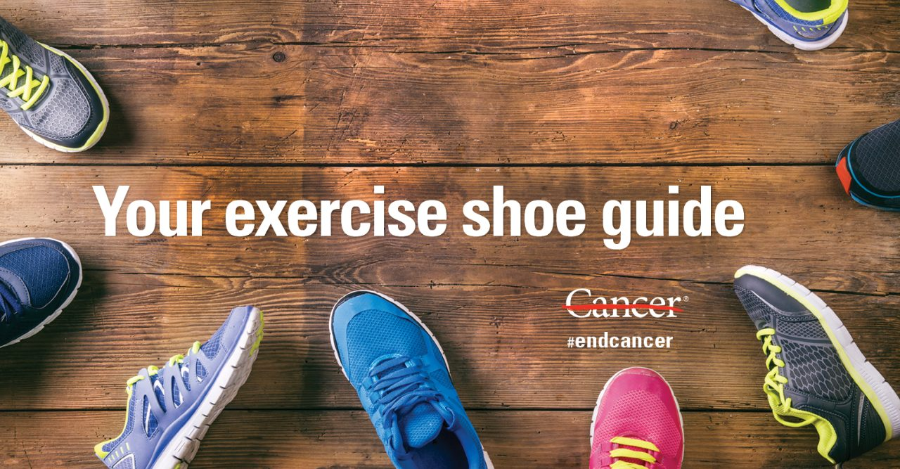 exercise shoes on a wooden floor
